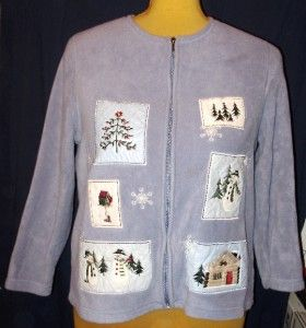 Womens Winter Holiday Snowman Cardigan Sweater 1x Croft Barrow