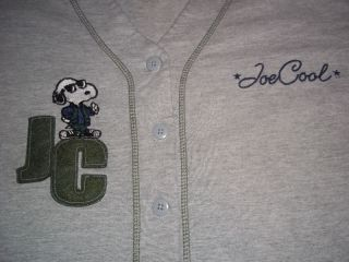 Peanuts Snoopy Joe Cool Baseball Jersey T Shirt Mens Womens