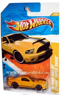 11 Hot Wheels New Model 3 10 Ford Shelby GT 500 Yllw