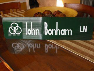 John Bonham Street Sign