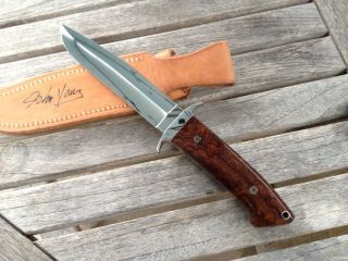 John Young Custom Knife Fancy Pin Fighter New