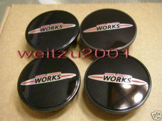 New Style 4 x Mini John Cooper Works Wheel Center Caps
