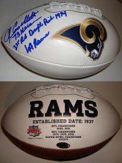 JOHN CAPPELLETTI SIGNED LOS ANGELES RAMS FOOTBALL INSCRIBED NFL 73