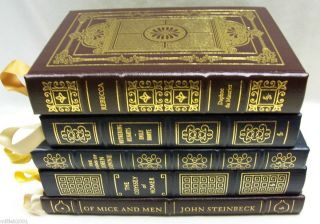 Easton Press Books Lot Rebecca John Donne Homer Of Mice Men Wuthering
