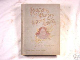 1897 Ridpaths History United States John Clark Ridpath