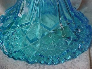 Vtg John E Kemple Blue Martec Footed Compote Candy Dish Original Mold