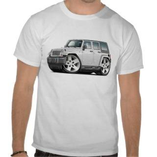 Jeep Wrangler White Car Tee Shirts from zle