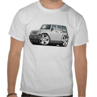 Jeep Wrangler White Car Tee Shirts from Zazzle