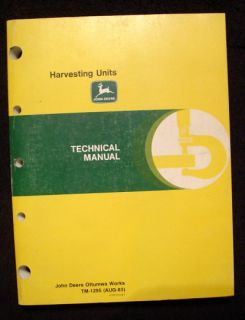 John Deere 3940 3950 3960 3970 3955 3975 Forage Harvester Units Technical Manual
