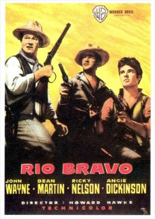 Rio Bravo Movie Poster 27x40 Spanish John Wayne Dean Martin Angie Dickinson