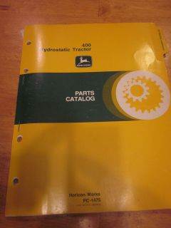 John Deere 400 Lawn Garden Tractor Parts Catalog Manual Dealer Vintage 318 214