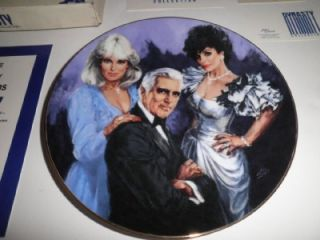 Vintage Dynasty John Forsythe Evans Collection Royal Orleans Collector Plate '85