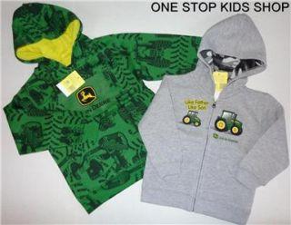 John Deere Tractor 2T 3T 4T 4 5 6 7 8 10 12 14 Sweatshirt Hoodie Jacket Coat