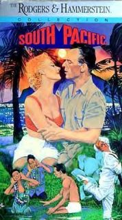 """""""South Pacific"""" 1958 Mitzi Gaynor Rosanno Brazzi Rodgers Hammerstein VHS"""