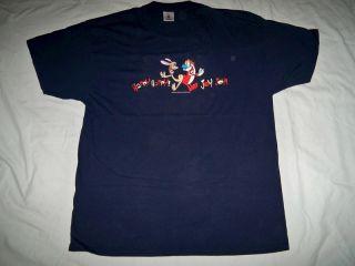 Ren Stimpy Happy Happy Joy Joy T Shirt XL Navy Blue John Kricfalusi Billy West