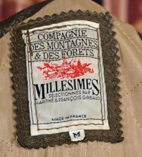 SUPERB VINTAGE FRENCH BROWN LEATHER JACKET M