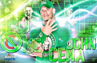 John Cena Salute The Cenation Never Give Up WWE Authentic Mens T Shirts Green