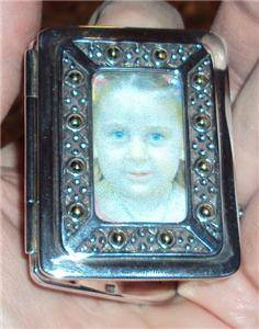 """John Hardy 925 Sterling Silver Double Picture Frame Travel 2 1 4"""" Miniature"""