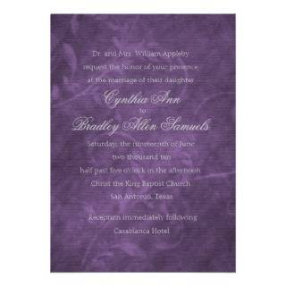 Invitation 5x7 Purple Acanthus Vine