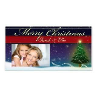 Two dog Christmas card photo template Photo Greeting Card from Zazzle
