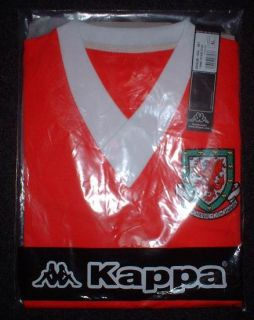 WALES CYMRU BNIB BNWT New Football Soccer Shirt Jersey Uniform KAPPA XL XLarge