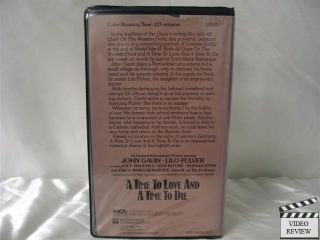 A Time to Love and A Time to Die VHS John Gavin