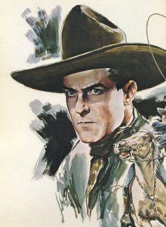 1973 Limited Ed 455 John Ford Presents Cowboy Kings of Western Fame Portfolio