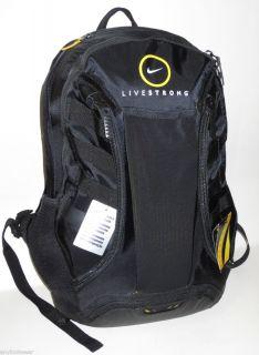 Nike Livestrong Ultimatum Gear Backpack Bookbag Black Maize BA3104 067 New Bag