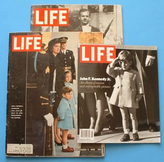 Life Magazine Kennedy Funeral Lee Harvey Oswald John F Kennedy Jr 3 Issues