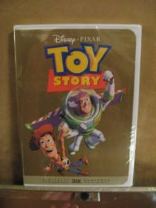 Toy Story DVD 2001 OOP Factory SEALED 10 Years Old Gold Cover