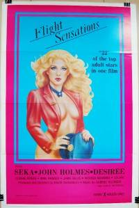 1983 FLIGHT SENSATIONS Original 27X41 TF Movie Poster XRATED JOHN HOLMES SEKA