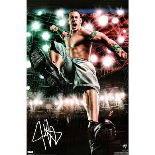 wwe JOHN CENA 24x36 autographed poster wrestlemania ecw tna impact wcw