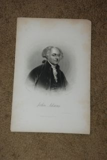 Beautiful Rare Vintage John Adams Etching Unmounted 10 L x 6 5 W FREE SHIPPING