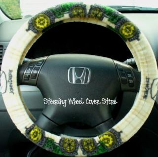 Car Steering Wheel Cover Green John Deere Tractor New