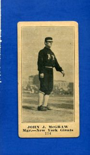 1916 M101 Famous Barr John McGraw New York 114