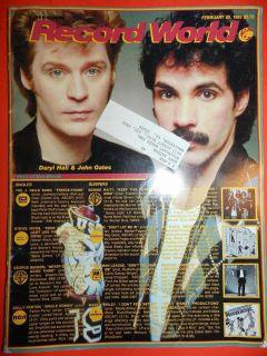 Record World Magazine Feb 20 1982 Daryl Hall John Oates Dolly Parton Single
