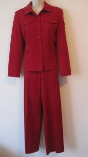 Norton McNaughton 10 P Dress Suit Top Jacket Pant Set Lot Embroidered Career Wor