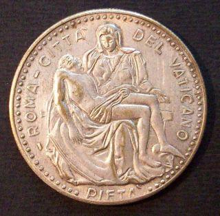 Italy Catholic Medal John Paul II Pont Max Rome Pieta
