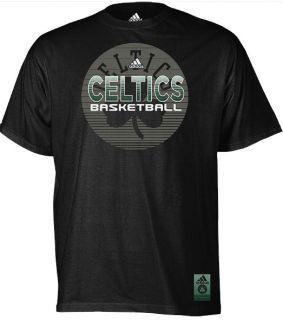 Boston Celtics ADIDAS Black Vibe Wordmark T Shirt Mens SZ S 2XL