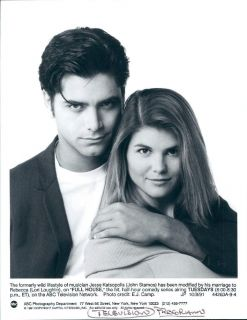 1991 Actors John Stamos Lori Loughlin TV Series Sitcom Full House Wire Photo