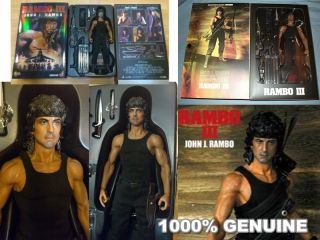 Rambo III 3 First Blood Sylvester Stallone John Hottoys Hot Toys Figure AQ2131