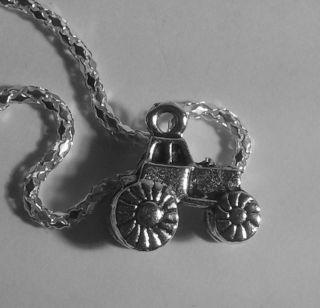 Tractor Necklace 20 chain john deere farm hat