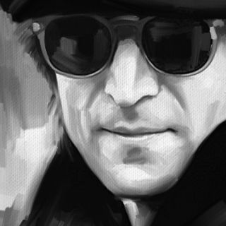 John Lennon Abstract Poster CD Painting Canvas Art Giclee Print XLarge