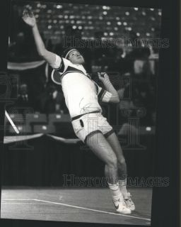 1981 Press Photo John McEnroe Serving Tennis Ball