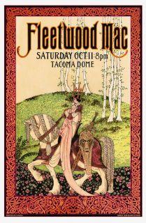 FLEETWOOD MAC Tacoma 98 Concert Art Poster 17 50 COA Hand Signed BOB MASSE