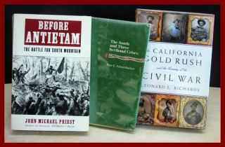 Civil War 3 Book Lot Calif Gold Rush Antietam More Illust Maps Dustjackets