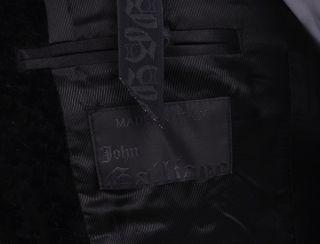 ISW RARE John Galliano Black Velvet Sport Jacket 36R 36 R