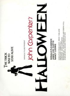 Halloween Movie Poster Horror Michael Myers John Carpenter RARE