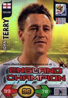 Adrenalyn XL World Cup 2010 John Terry Champion Card