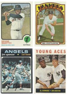Vintage Baseball Card Lot 1969 Mickey Mantle 1958 Ernie Banks 1971 Hank Aaron